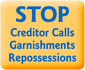 stop creditor calls garnishment and repossessions